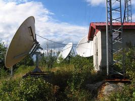 hilltop antenna installation.
